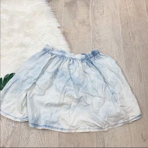 Charlotte Russe Bleached Elastic Waist Skirt C1903